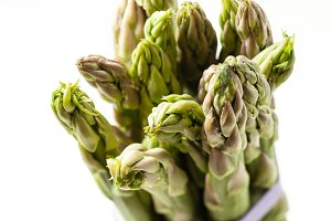 Asparagus bunch isolated