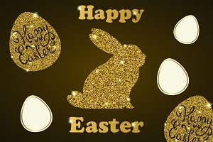 Golden Easter cards