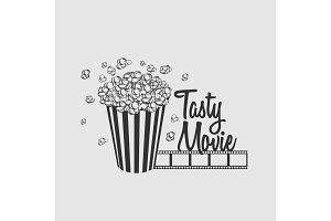 Tasty movie vector logo