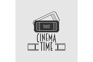 Cinema time vector logo