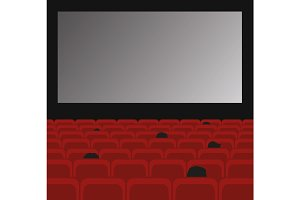 Cinema auditorium with screen