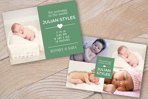 Baby Birth Announcement Card