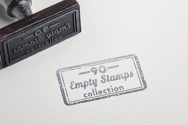 90 Handmade Empty Stamps