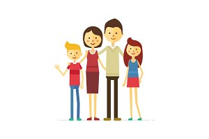 family portrait at the simple style