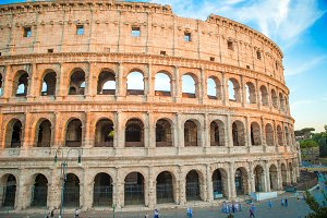 Colosseum or Coliseum the most famous historic building in Europe