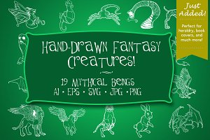 Hand Drawn Fantasy Creatures