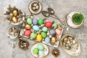 Easter eggs Table decoration Top