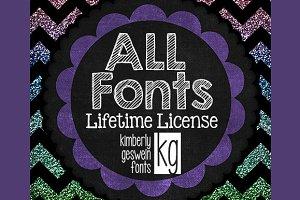 ALL KG Fonts Lifetime License