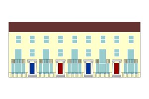 terraced house illustration