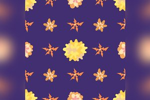 Seamless pattern with beautiful flowers.