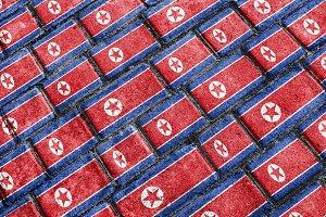 North Korea Flag Pattern