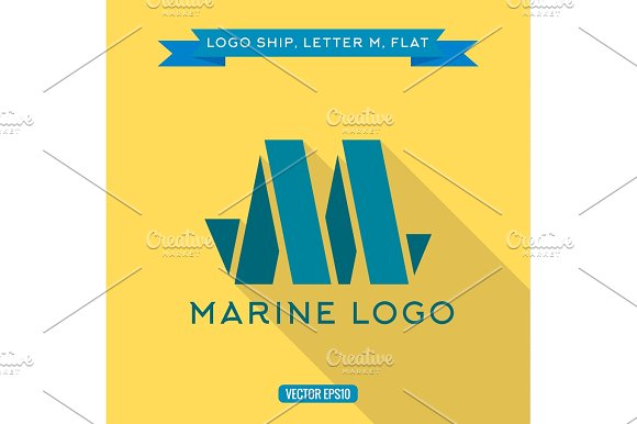 Abstract Logo Ship In The Form Of Letter M Vector Illustration Icon