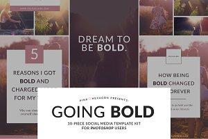 Going Bold 10 Social Media Templates