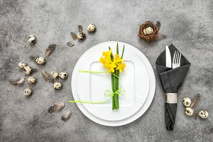 Easter table decoration Still life