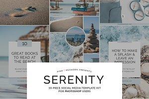 Serenity 10 Piece Social Media Temp