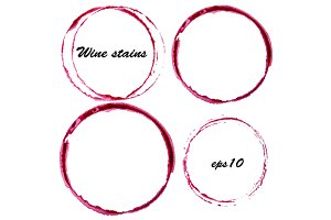 Wine stains. Glass circles marks