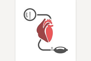 Blood Pressure Heart Icon