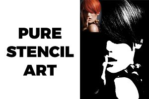 Pure Stencil Art Photoshop Action