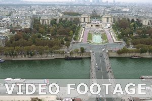 Paris aerial view of Trocadero