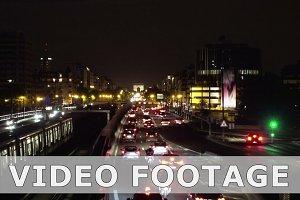 Night traffic in Paris