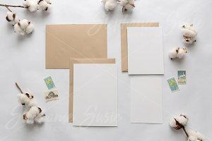 Cotton & Kraft Invitation Lay Flat