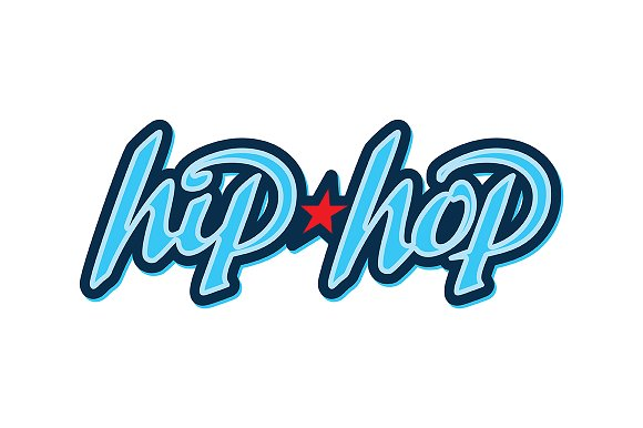 hiphop lettering logo templates creative market