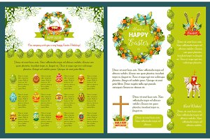 Easter greetings template for banner, card design