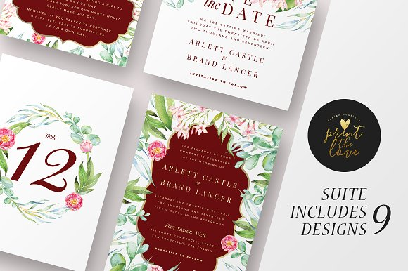Wedding Invitation Suite Majestic