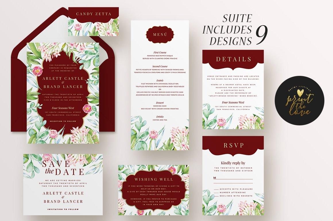 Wedding Invitation Suite - Majestic ~ Invitation Templates ...