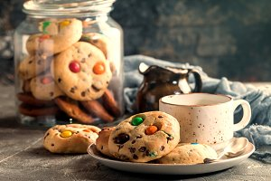 Homemade Candy Coated Cookies