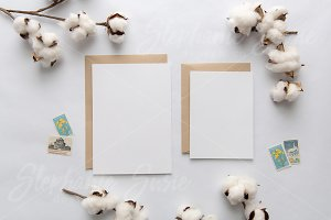 Cotton & Kraft Invitation Lay Flat
