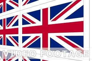 Postcards with United Kingdom national flag