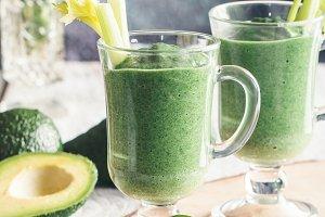 Fresh avocado smoothie