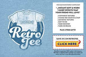 RetroTee-Worn Tee Effect Pack