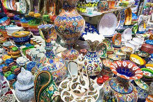 Turkish ceramics in the Grand Bazaar