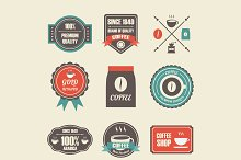 retro coffee label