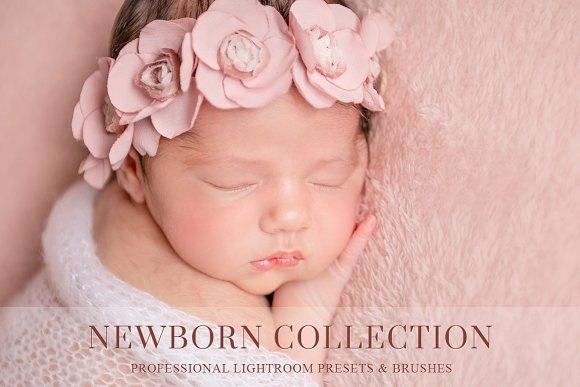 Newborn lightroom preset and brushes actions creative market