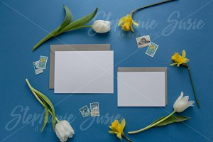 Blue & Grey Invitation Lay Flat