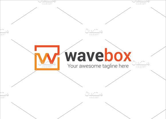 Wave Box W Letter Logo