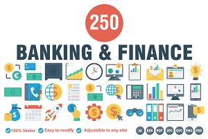 Banking & Finance Flat icons