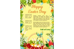 Easter Day Egg Hunt poster template design
