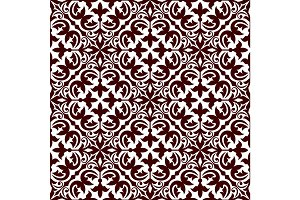 Floral ornamental decoration pattern
