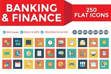 Banking & Finance Square icons