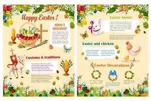 Easter spring holidays brochure template design