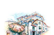 Colorful houses in Manarola, Ligury, Italy