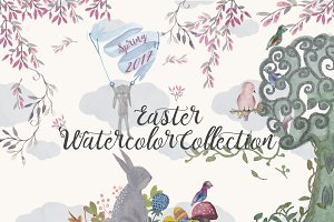 Easter Watercolor Illustrations