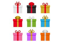 Colorful Gift Boxes Set