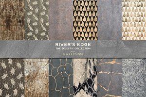 River's Edge: White & Rose Gold Foil