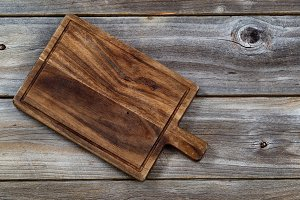 Old Walnut Wooden Food Serving Board