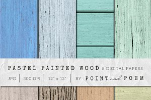 Wood Texture - Painted Pastel Wood